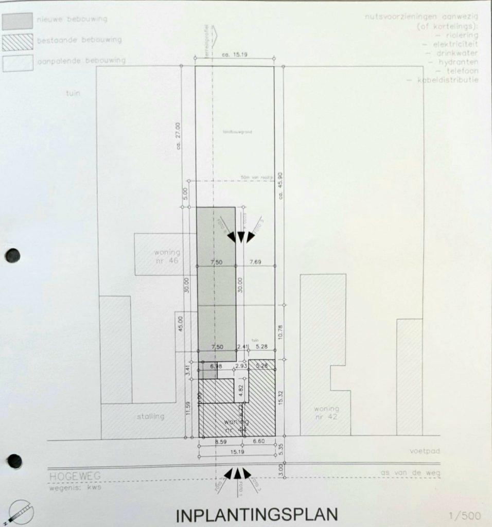 woonhuis, werkplaats, atelier, te koop, berlare, inplantingsplan.