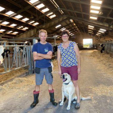 Farmer Koen and farmer Annick